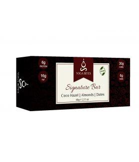 Signature Bars -Cocoa, Hazel,Almond ,Dates, Coconut-60 Gm