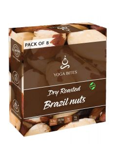 Yogabites Dry Roasted Brazilnut-25ge Pack of 8