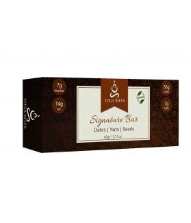 Signature Bars -Dates, Nuts & Seeds(Almond Butter,Almond chopped,Medjool Dates, Pumpkin Seeds, Flax Seeds,Melon Seeds,Chia,Vanilla)-60 Gm