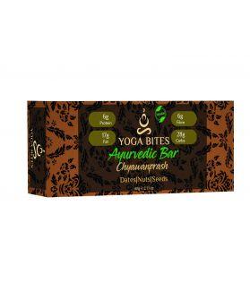 YOGABITES- Ayurveda Bars - Dates, Nuts & Seeds with Chyawanprash (Peanut Butter,Almond Butter,Peanut Chopped,Medjool Dates, Pumpkin Seeds, Flax Seeds,Vanilla)-60 Gm