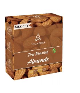 Yogabites Dry Roasted Almonds-25gm(Pack of 8)