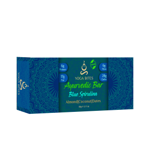 Ayurveda Bars - Spirulina Almond ,Medjool Dates, Coconut, Flax, Pumpkin