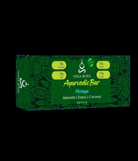 Ayurveda Bars - Moringa ,Almond ,Medjool Dates, Coconut, Flax, Pumpkin-60 gm